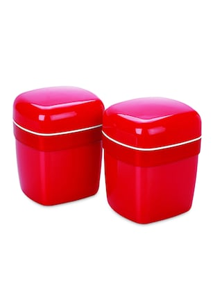 red Food grade Plastic   Small Container Set  set of  2