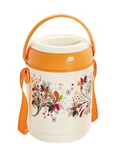 Orange Stainless Steel Container & Insulated Food Grade Plastic Body Lunch Carrier Set Of  4 Container - Cello