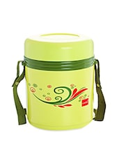 Green Stainless Steel Container & Insulated Food Grade Plastic Body Lunch Carrier Set Of  4 Container - Cello