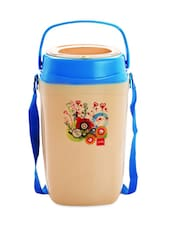 Blue Stainless Steel Container & Insulated Food Grade Plastic Body Lunch Carrier Set Of  5 Container - Cello