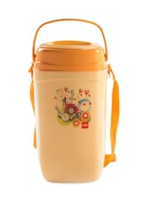 Orange Stainless Steel Container & Insulated Food Grade Plastic Body Lunch Carrier Set Of  5 Container - Cello