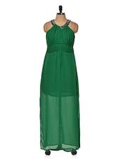 Green Halter Neck Dress - Muah