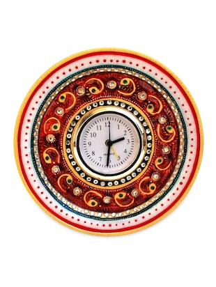 KUNDAN AND MEENA WORK ALARM CLOCK IN MARBLE