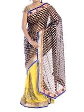 Black And Yellow Shaded Saree - Suchi Fashion