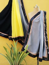 Three Part Shaded Saree With Sequined Border - RiniSeal