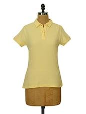 Light Yellow Collared T-shirt - CHERYMOYA