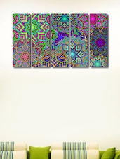 Colourful Designs Modern Wall Art Painting - 5 Pieces - 999store