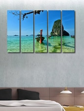 Boat In The Sea Wall Art Painting - 5 Pieces - 999store