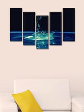 Water Drop Modern Wall Art Painting - 5 Pieces - 999store