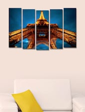 Eiffel Tower Wall Art Painting - 5 Pieces - 999store