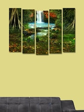 Forest Fountains Wall Art Painting - 5 Pieces - 999store