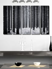 Forest Trees Wall Art Painting - 5 Pieces - 999store