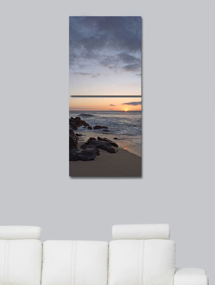 Bank Of Sea Wall Art Painting -2 Pieces - 999store