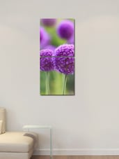Purple Flower Wall Art Painting -2 Pieces - 999store