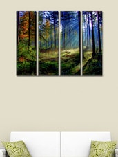 Sunrise At Tree Ice Wall Art Painting - 4 Pieces - 999store