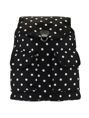 Polka-Dotted Black Backpack