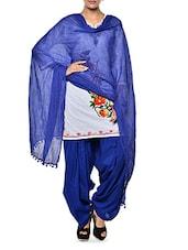Royal Blue Patiala Salwar And Dupatta Set - PehNava
