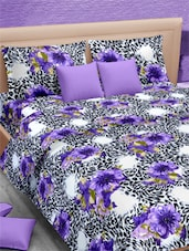 Floral With Animal Printed Double Bed Sheet With Pillow Covers - VORHANG