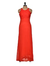 Red Back Cut Out Gown - Queens