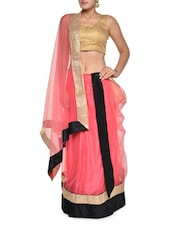 Soft Pink Net Lehenga Set - Aggarwal Sarees