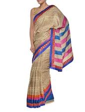 Printed Brown Georgette Saree - Aggarwal Sarees
