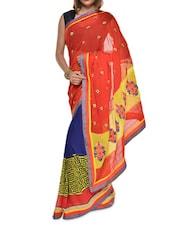 Multi Print Red Georgette Saree - Aggarwal Sarees