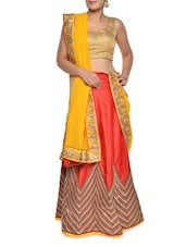 Luxe Red And Yellow Combination Lehenga Set - Aggarwal Sarees