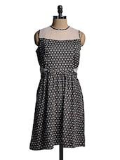 Black Printed Sleeveless Dress - Mishka