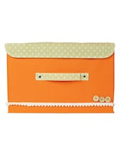 Orange Foldable Storage Boxes -set Of 2 - Bluebells
