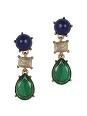 Blue Pearl Drop Earrings - YOUSHINE
