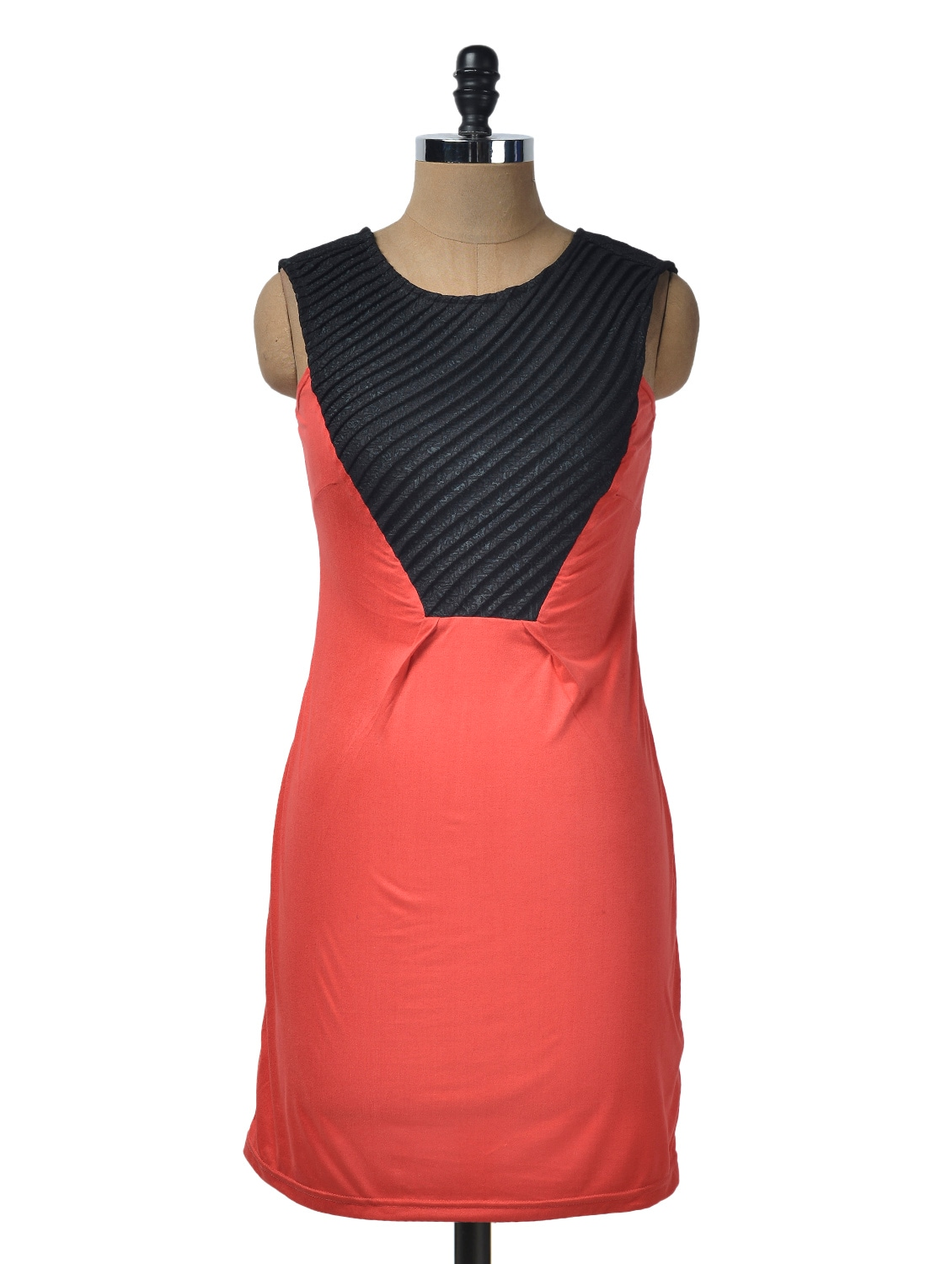 Black And Red Viscose Knit Dress - Glam And Luxe