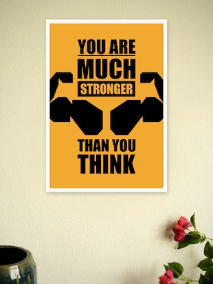 Gym and Fitness Quotes Poster