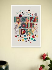 Abstract Art Inspirational Quotes Poster - Lab No. 4 - The Quotography Department