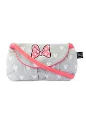 Feminine Grey Pink Bow Sling Bag - Be... For Bag