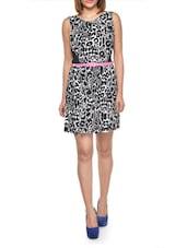 Monochrome Leopard Print Dress - Lipsy