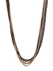 Multi-layered Black Leaf Necklace - THE BLING STUDIO
