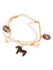 White Pearl Charm Bracelet - THE BLING STUDIO