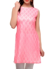 Sober Pink Cut Sleeved Kurta - Jainish