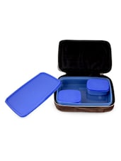 Blue Lunch Box With Bag (Set Of 3) - Trust & Guess