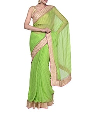 Lovely Green Chiffon Saree - Tanisi