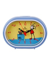 Blue Plastic Kids Table Clock - By - 948693