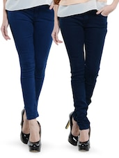 Combo Of 2 Deep Blue Jeans - Dashy Club