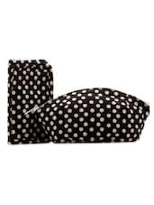 Black And White Polka Dot Combo Bag Set - Voylla
