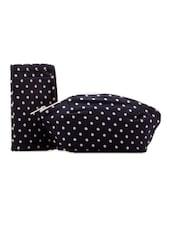 Black And White Polka Dotted Combo Bag Set - Voylla
