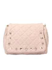 Quilted Peach Sling Bag - Lalana
