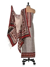 Unstitched Printed Cotton Silk Ethnic Suit - Vastrangana