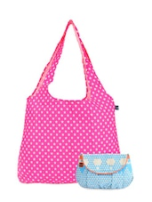 Pink And Blue Canvas Resort Tote Clutch Combo - Be... For Bag
