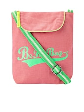 Pink Canvas Sling Bag - Be... For Bag
