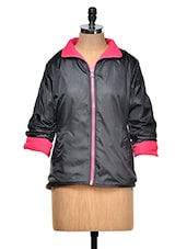 Black And Pink Reversible Jacket - By
