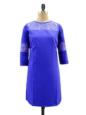 Cobalt Blue Lace Dress - Miss Chase